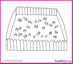 pictures of fence and grass to color print grass coloring pages
