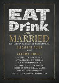 eat drink and be married invitations rehearsal dinner invitations archives superdazzle custom