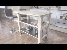 How To Design A Kitchen Island With Seating by How To Build A Kitchen Island On Wheels Youtube