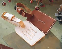 luggage tags favors personalized engrave leather luggage tag travel single sided
