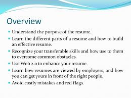 What Is The Purpose Of A Resume The Purpose Of A Resume Resume Ideas