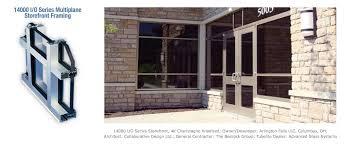 store front glass doors tubelite inc tubelite inc architectural aluminum storefront