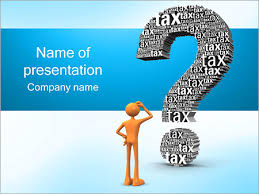 tax question powerpoint template u0026 backgrounds id 0000001564