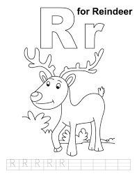 reindeer free alphabet coloring pages alphabet coloring pages of