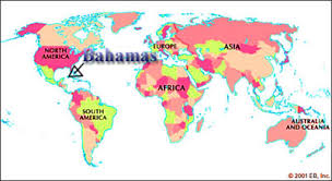 bahamas on a world map where is the bahamas on the world map