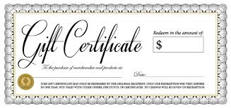 gift certificates gift certificates west branch country club