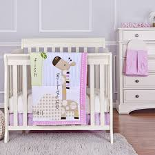Portable Crib Bedding Jungle Friends 5 Pc Set Reversible Portable Crib Set On Me