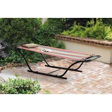 mainstays folding sling hammock with stand red walmart com