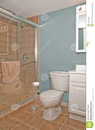 Bathroom And Shower Bathroom Toilet And Shower Stall Stock Image Image Of Interior