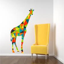 stickers girafe chambre bébé girafe sticker mural stickers muraux chambre denfant de