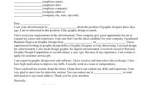 Graphic Design Cover Letters Cover Letter For Graphic Designer Position Image Collections