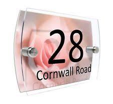 glass door number signs numbers decorative plaques u0026 signs ebay