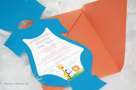 jungle onesie baby shower invitation baby announcement