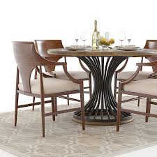 Hooker Dining Room Sets Hooker Cinch Round Table And Jens Chairs 3d Model Max Obj Fbx Mtl