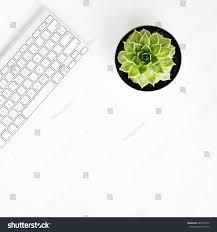 white office desk table wireless aluminum stock illustration