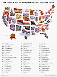 popular halloween candy in every state in 2017 mapped business