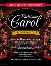 christmas carol flyer template postermywall
