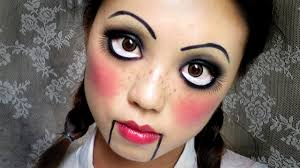 easy halloween makeup creepy cute doll 中文字幕 youtube