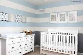 Baby Boy Bedrooms Baby Boy Striped Nursery How To Nest For Less