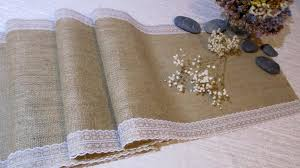 natural burlap table runner country wedding table runner burlap and lace bridal shower party