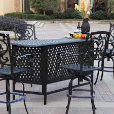 patio bar furniture sets darlee santa barbara 5 piece cast aluminum patio party bar set