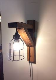 rustic corbel light sconce bedside light rustic lamp wall