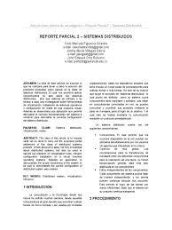 reporte parcial 2 sistemas distribuidos