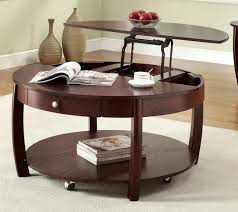 coffee table on wheels with storage coffee table design ideas