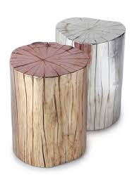 coffee table metallic tree stump side table boho home pinterest