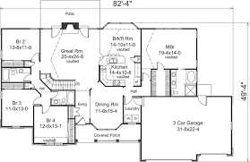 4 bedroom 3 bath house plans ranch house plan 4 bedrooms 3 bath 2322 sq ft plan 77 299
