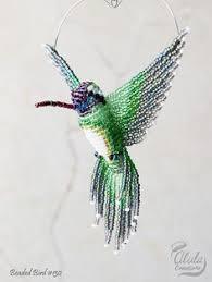 hummingbird ornament beaded ruby throated clip on bird christmas