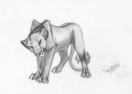 young lioness sketch by sparklewolf7000 on deviantart
