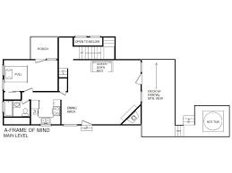 A Frame Floor Plan by A Frame Of Mind Cabin In Gatlinburg W 2 Br Sleeps6
