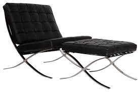 modern livingroom chairs barcelona chair and ottoman 2 set modern living room