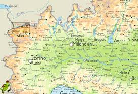 Map Of Italy And Switzerland by Val D U0027aosta