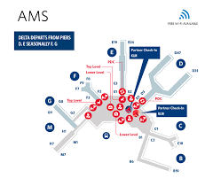 delta airlines baggage policy amsterdam schiphol airport terminal map ams delta air lines
