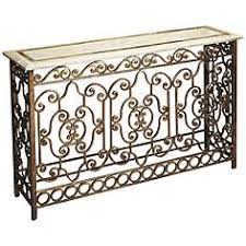Iron Console Table Gold Sofa Console Tables Tables Lamps Plus