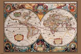 Large World Map Poster by Pyramid International 17th Century World Map Poster 61 X 91 5cm