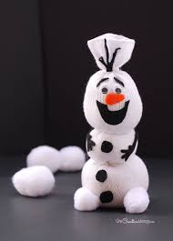olaf sock snowman tutorial onecreativemommy