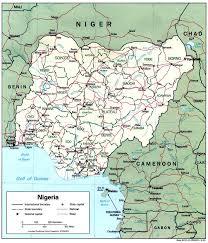 nigeria physical map nigeria maps