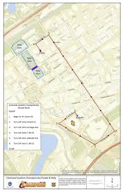 Nba Map Details For Nba Champion Cleveland Cavaliers Homecoming And Parade