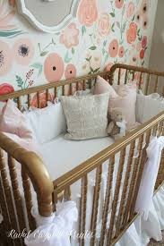 rachel elizabeth creates baby girl nursery hand painted floral rachel elizabeth creates baby girl nursery hand painted floral wall mural