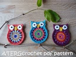 sale crochet pattern owl big by