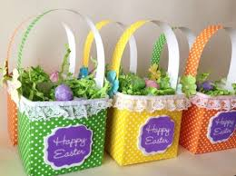 baskets for easter a paper easter treat basket thriftyfun