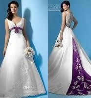 purple and white wedding dress elegant and delicate wedding