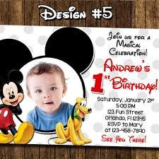 Mickey Mouse 1st Birthday Card Artfire Markets