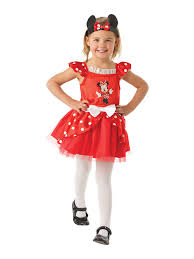 Minnie Mouse Halloween Costume Toddler Child Licensed Disney Red Minnie Mouse Ballerina Fancy Dress