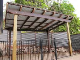 Patio Metal Roof by Pergola With Corrugated Metal Roof Frame U0026 Colorbond