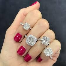 engagement rings cushion cut cushion cut halo engagement ring ring concierge