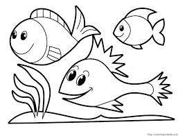 awesome design ideas fish coloring pages preschoolers